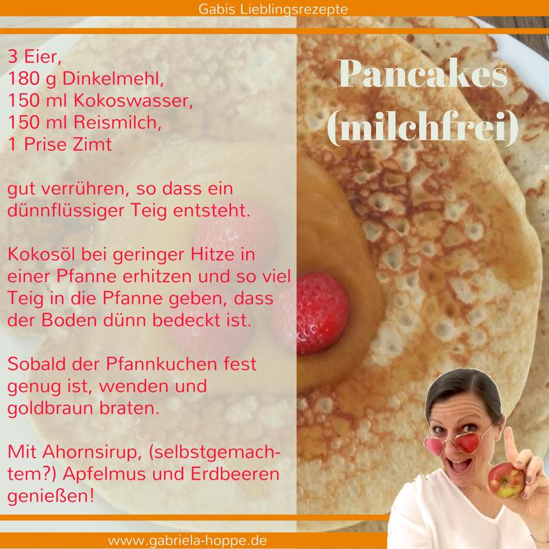 Pancakes milchfrei mit Dr. Gabriela Hoppe | Erfolg durch Ernährung | Ernährungsspezialistin & Heilpraktikerin