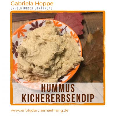 Hummus Kichererbsendip mit Dr. Gabriela Hoppe | Erfolg durch Ernährung | Deine Ernährungsspezialistin & Heilpraktikerin in Hannover/Isernhagen | Bild by GH