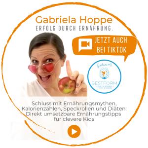 TikTok mit Erfolg durch Ernährung mit Dr. Gabriela Hoppe | Erfolg durch Ernährung | Ernährungsspezialistin & Heilpraktikerin - Hintergrundbild by GH