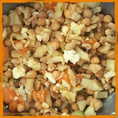 Kichererbsen-Fenchel-Aprikosen-Salat mit Dr. Gabriela Hoppe | Erfolg durch Ernährung | Deine Ernährungsspezialistin & Heilpraktikerin in Hannover/Isernhagen | Bild by GH