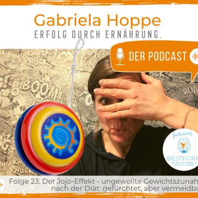 Der Ernährungs-Podcast Erfolg durch Ernährung mit Dr. Gabriela Hoppe | Erfolg durch Ernährung | Ernährungsspezialistin & Heilpraktikerin - Hintergrundbild by GH & Canva